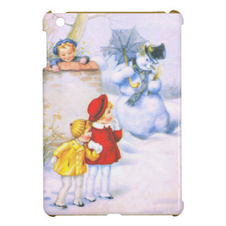 Children and the snowman cover for the iPad mini