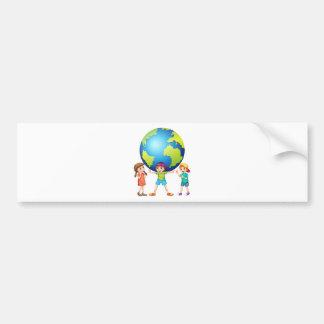 Children and the world bumper sticker