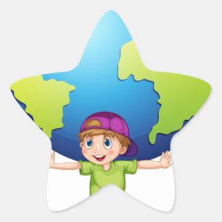 Children and the world star sticker