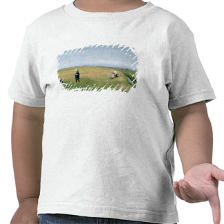 Children and Young Girls picking Flowers Tees