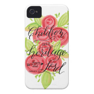 Children are Heritage from the Lord iPhone 4 Case