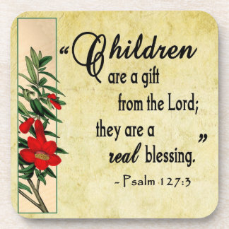 Children Are Real Blessing Cork Coaster