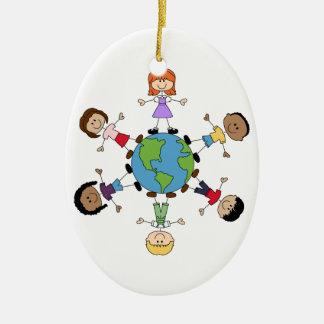 Children Around The World Ceramic Oval Decoration