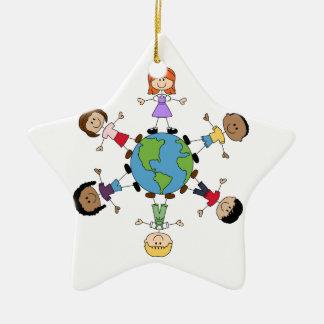 Children Around The World Ceramic Star Decoration