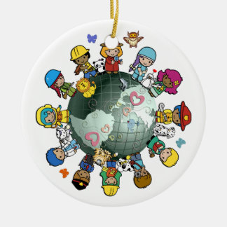 Children Around the World Christmas Tree Ornament