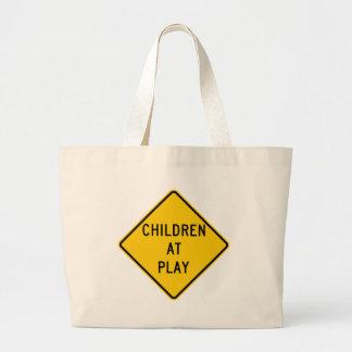 Children at Play Highway Sign Bag