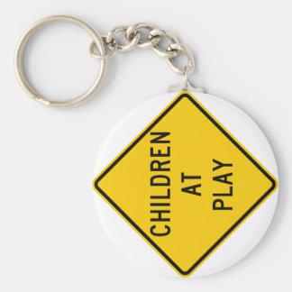 Children at Play Highway Sign Keychains