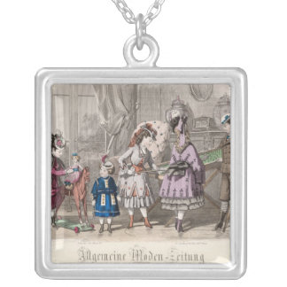 Children at Play Silver Plated Necklace