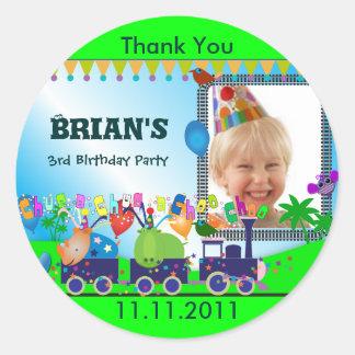 Children Birthday Thank You S: Train Sticker
