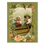 Children Boating Postcard