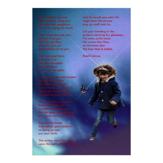 Children by Kahlil Gibran Poster