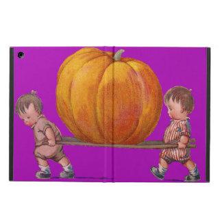 Children Carrying Giant Pumpkin Purple iPad Air Cover