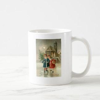 Children Christmas Tree Church Frozen Pond Snow Basic White Mug
