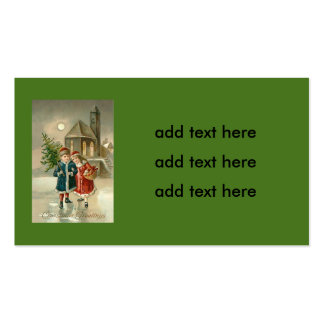 Children Christmas Tree Church Frozen Pond Snow Pack Of Standard Business Cards