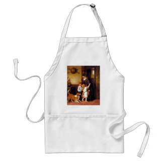 Children Collie Dog Home Welcome painting Adult Apron