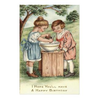 Children Cooking Baking Outdoors Photo Art