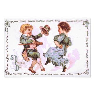 Children Dancing Shillelagh Jig Photograph