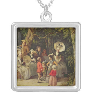 Children Dancing Silver Plated Necklace
