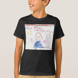 children design with smile and hart T-Shirt