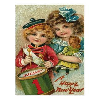 Children Drum Drummer Boy Doll Toy Postcard