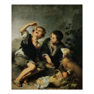 Children Eating a Pie, 1670-75 Poster