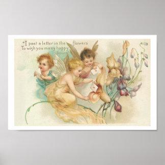 Children Fairies - Vintage Art Poster