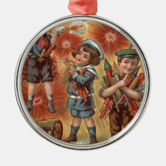 Children Fireworks Firecracker Explosion Christmas Ornament