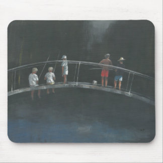 Children fishing mouse pad