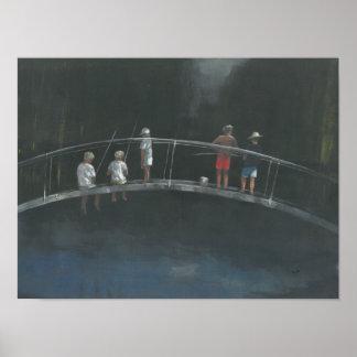 Children fishing poster