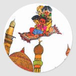 Children Flying On Magic Carpet Over Minarets (w) Stickers