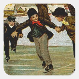 Children Iceskating Stickers