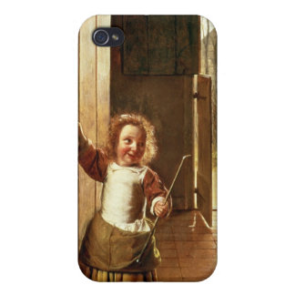 Children in a Doorway with 'Colf' Sticks iPhone 4/4S Cover