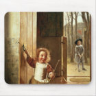 Children in a Doorway with 'Colf' Sticks Mouse Mat