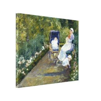 Children in a Garden The Nurse by Mary Cassatt Stretched Canvas Prints