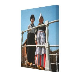Children in Dutch National Costume Canvas Print