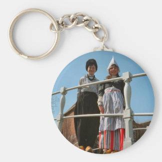 Children in Dutch National Costume Key Ring