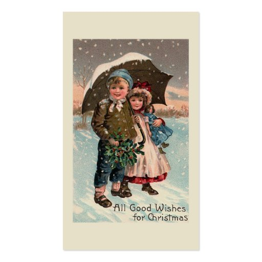 """""""Children in the Snow"""" Business Cards"""