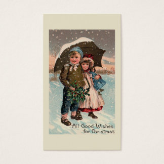 """""""Children in the Snow"""" Business Card"""