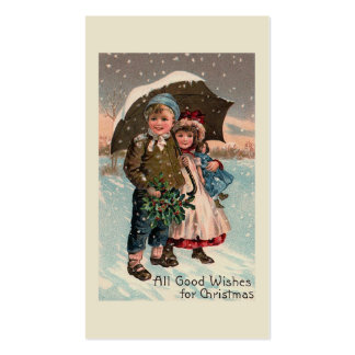 """""""Children in the Snow"""" Pack Of Standard Business Cards"""