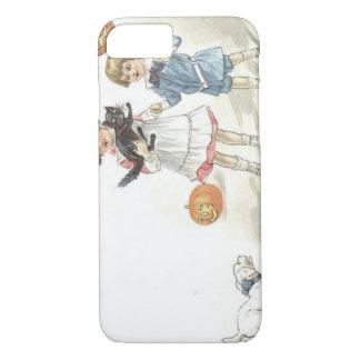 Children Jack O' Lantern Black Cat Dog iPhone 7 Case