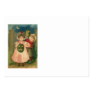 Children Jack O' Lantern Crescent Moon Pack Of Chubby Business Cards