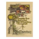 Children Jack O' Lantern Pumpkin Fall Postcards