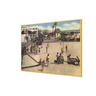 Children & Moms at Venice Athletic Beach Canvas Print