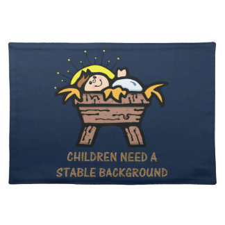 children need stable background placemat