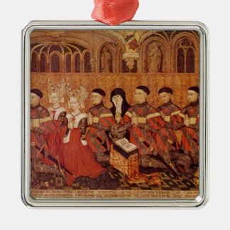 Children of Jean I Jouvenel des Ursins  and Silver-Colored Square Decoration