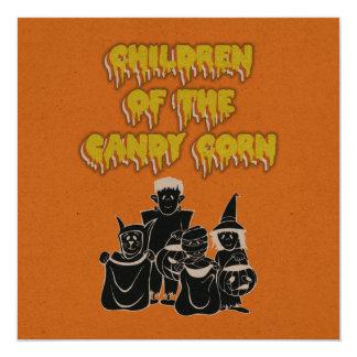 Children of the Candy Corn 13 Cm X 13 Cm Square Invitation Card