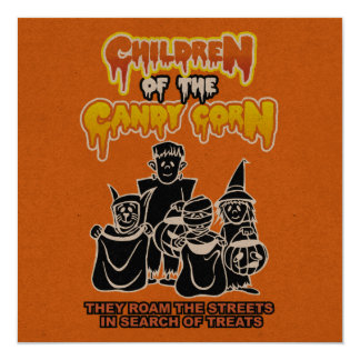 Children of the Candy Corn: Halloween Party 13 Cm X 13 Cm Square Invitation Card