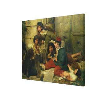 Children of the Streets of Paris, 1852 Canvas Print