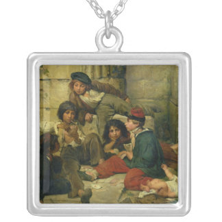 Children of the Streets of Paris, 1852 Silver Plated Necklace