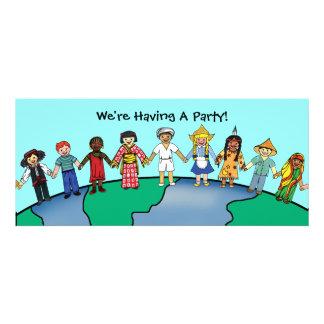 Children of the World Personalized Invitation